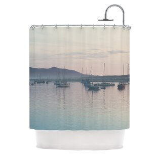As the Sun Goes Down by Laura Evans Pastel Single Shower Curtain By East Urban Home