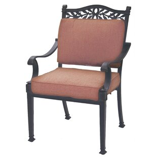 Fairmont Stacking Patio Dining Chair with Cushion by Astoria Grand