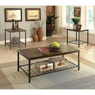 Loon Peak Whorton 3 Piece Coffee Table Set