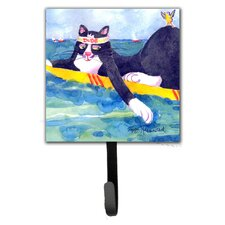 Cat Surfin Bird Leash Holder and Wall Hook by Caroline's Treasures