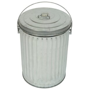 Medium Duty Galvanized 10 Gallon Trash Can
