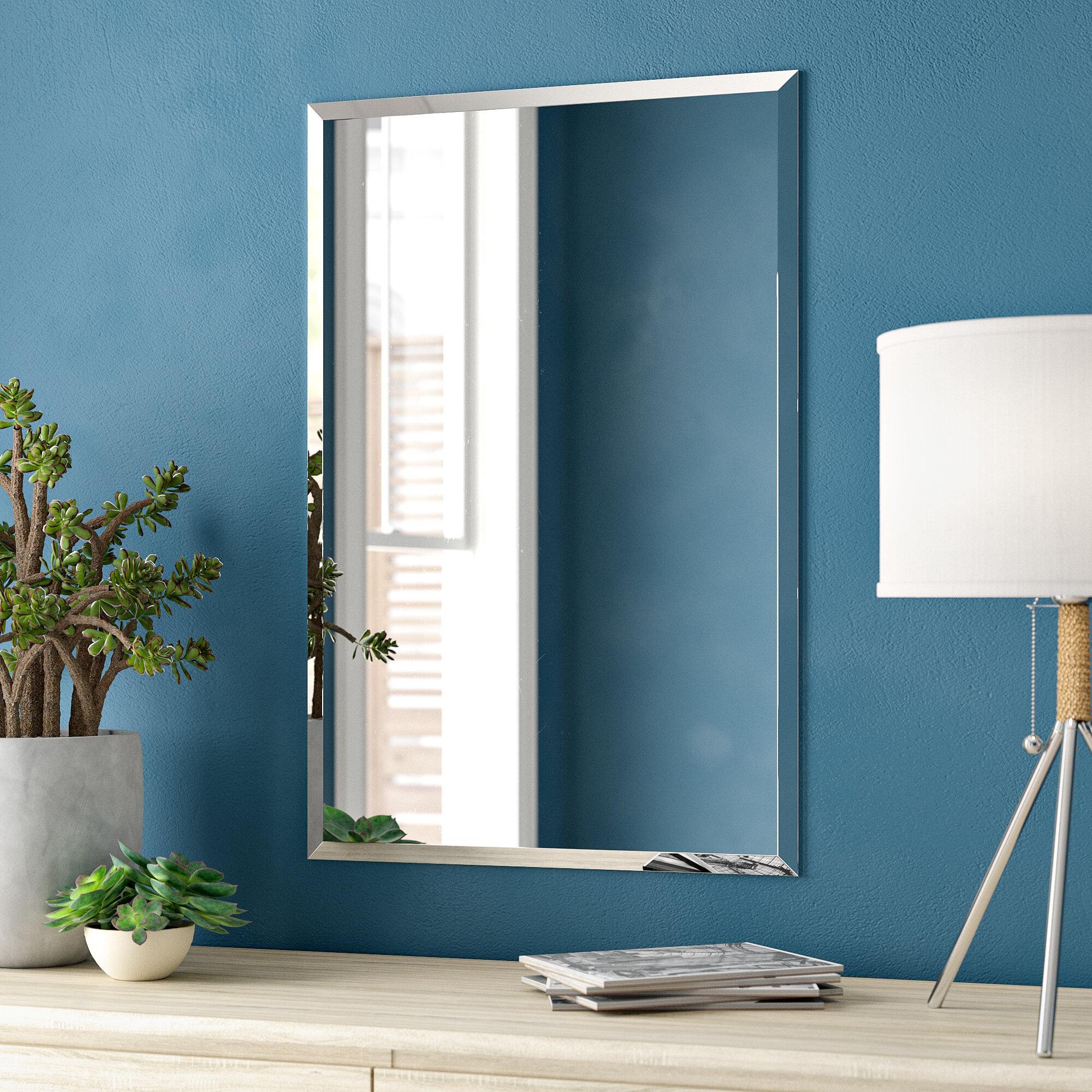 Zipcode Design Lithonia Modern And Contemporary Beveled Frameless Vanity Mirror Reviews Wayfair