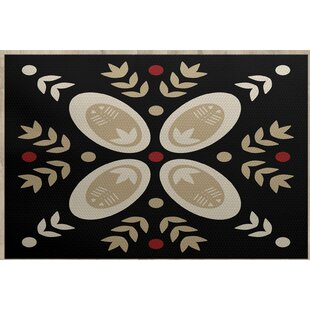 Mazee Black Indoor/Outdoor Area Rug