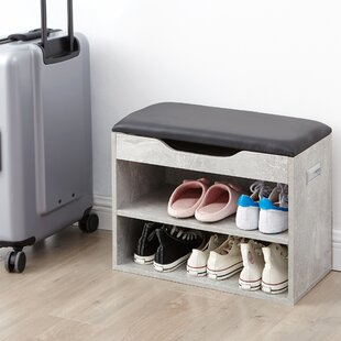Affordable Compact Shoe Storage Bench with Top Cushion By Ebern Designs