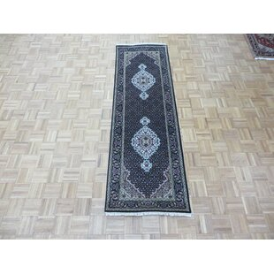 One-of-a-Kind Beaton Hand-Knotted Wool Black Area Rug Isabelline