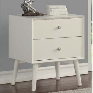 Acevedo 2 Drawer Nightstand by Trule Teen