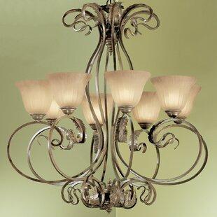 Classic Lighting Manilla 8-Light Shaded Chandelier