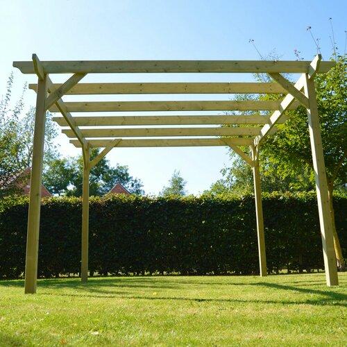 Randi Manufactured Wood Pergola Dakota Fields Finish: Light