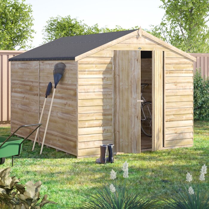 Epping 8 Ft W X 10 Ft D Overlap Apex Wooden Shed