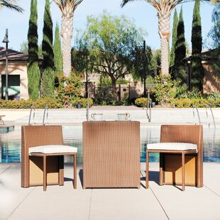 Albina 3-Piece Rattan Conversation Set with Cushions