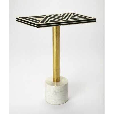 Ivy Bronx Bellevue Bone Inlay End Table