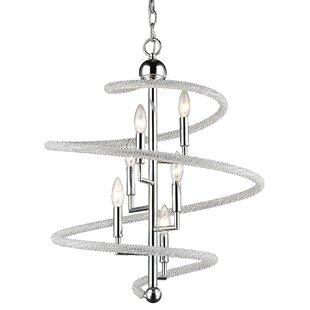 Iliomar 6-Light Geometric Chandelier by Orren Ellis