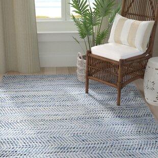 Latour Handwoven Flatweave Cotton Blue Area Rug by Highland Dunes