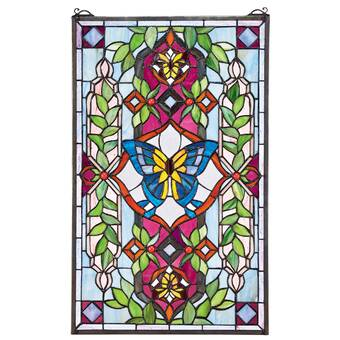 d426b01a1b6e Design Toscano Butterfly Utopia Tiffany-Style Stained Glass Window ...