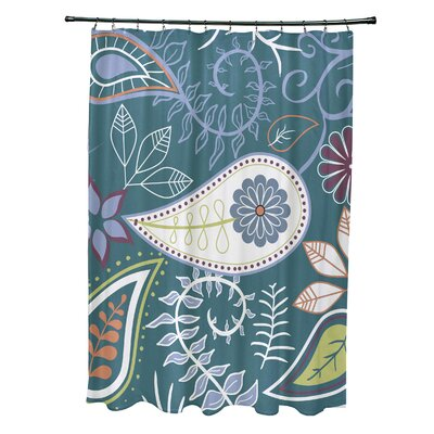 Alcott Hill Orchard Lane Polyester Paisley Floral Single Shower Curtain