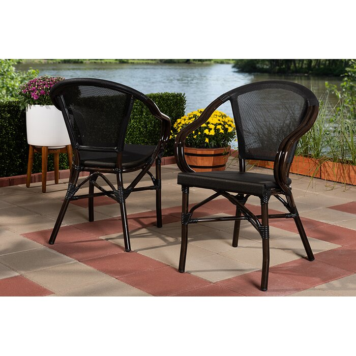 Raelynn Bamboo Stacking Patio Dining Chair