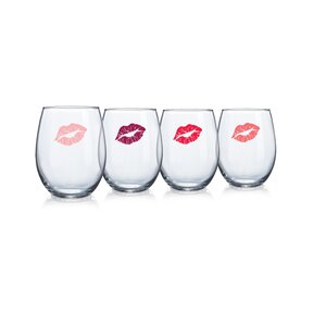 Rhona 15 Oz. Stemless Wine Glass (Set of 4)