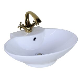 Shopping for Ceramic Oval Vessel Bathroom Sink with Overflow ByAmerican Imaginations