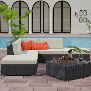 Clendenin 6 Piece Sectional Set with Cushions by Wade Logan