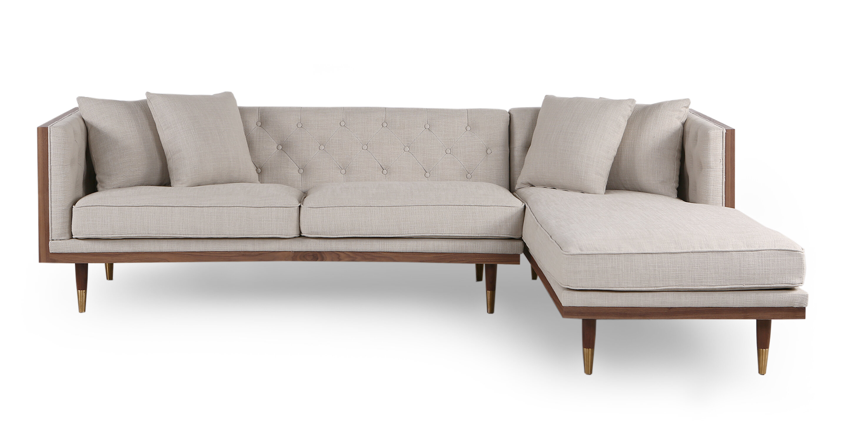 Outstanding Brylee Mid Century Sectional Theyellowbook Wood Chair Design Ideas Theyellowbookinfo