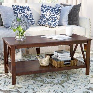 Three Posts Brassiewood 2 Piece Coffee Table Set
