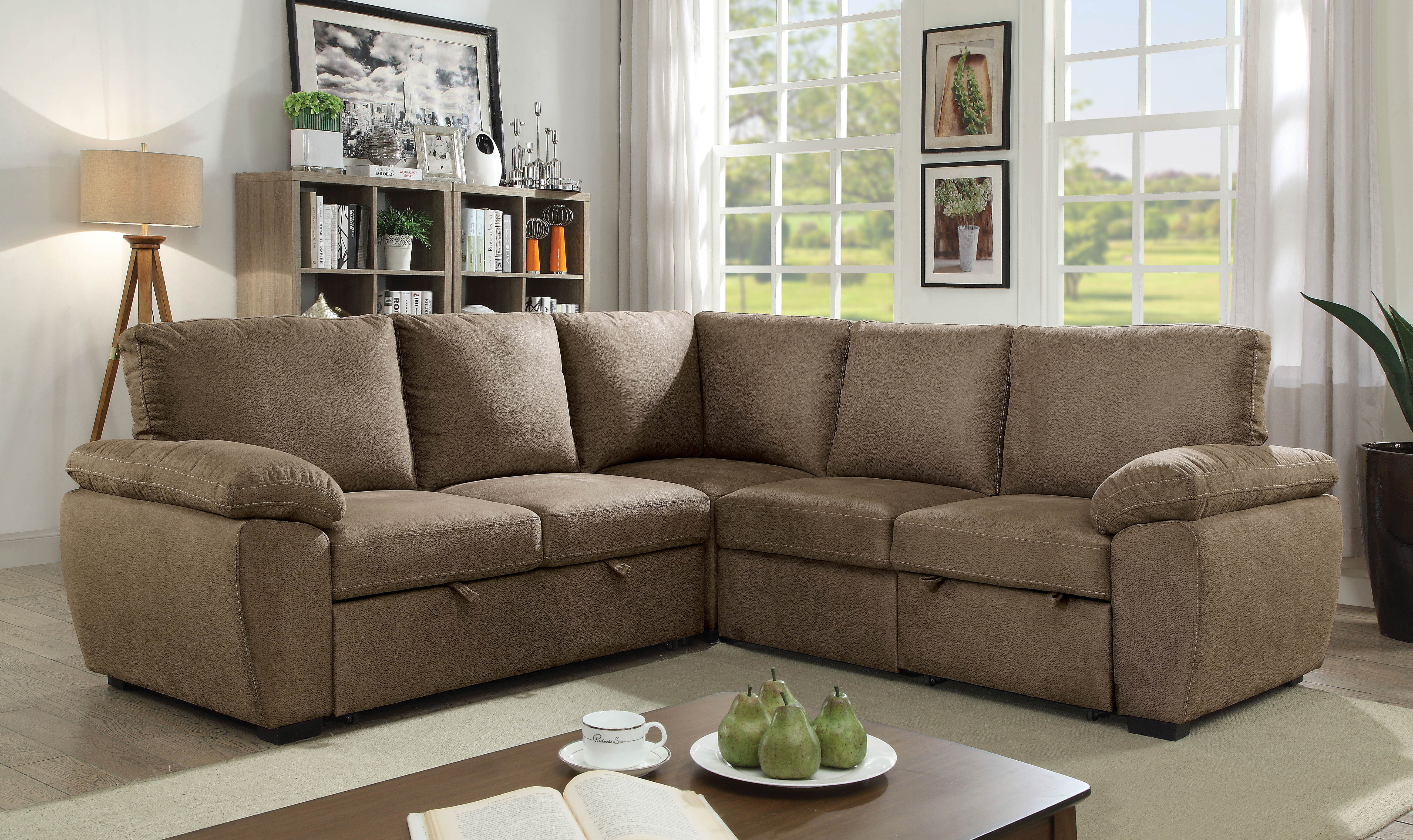 Awe Inspiring Lafave Symmetrical Sleeper Sectional Andrewgaddart Wooden Chair Designs For Living Room Andrewgaddartcom