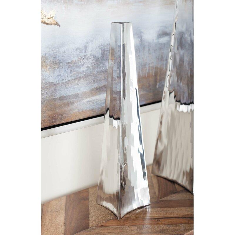 Cole Grey Stainless Steel Floor Vase Reviews Wayfair