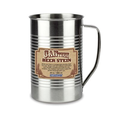 Canteen Beer Stein 64 Oz. Stainless Steel Pint Glass (set Of 2) Barbuzzo