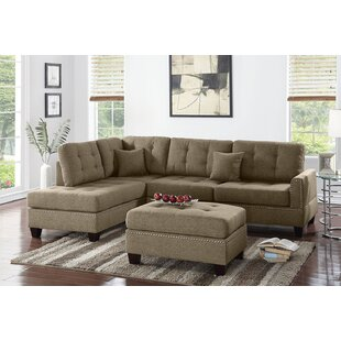 Romulus Reversible Sectional with Ottoman by Alcott Hill