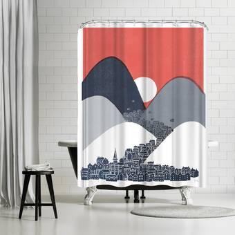 East Urban Home David Fleck Eva Single Shower Curtain Wayfair