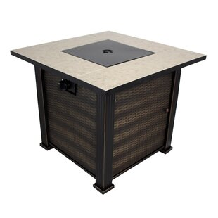 California Outdoor Designs New Haven Steel Propane Gas Fire Pit Table