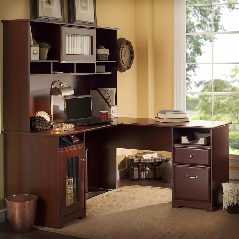 toledo lshaped executive desk with hutch