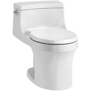 Kohler San Souci 1 Piece Round-Front 1.28 GPF Toilet with Aquapiston Flushing Technology
