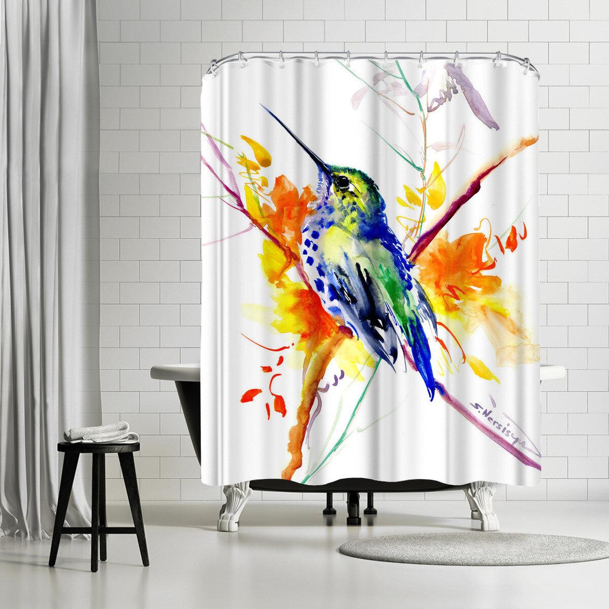 East Urban Home Suren Nersisyan Hummingbird 3 Single Shower Curtain Wayfair