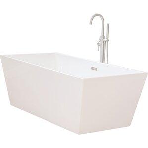 two person freestanding tub. 67  x 32 Freestanding Soaking Bathtub Two Person Tub Wayfair