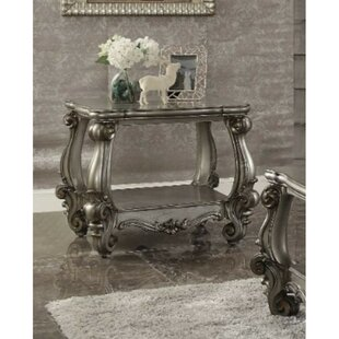 Swart Square Shape Bottom Shelf Wooden End Table by Astoria Grand