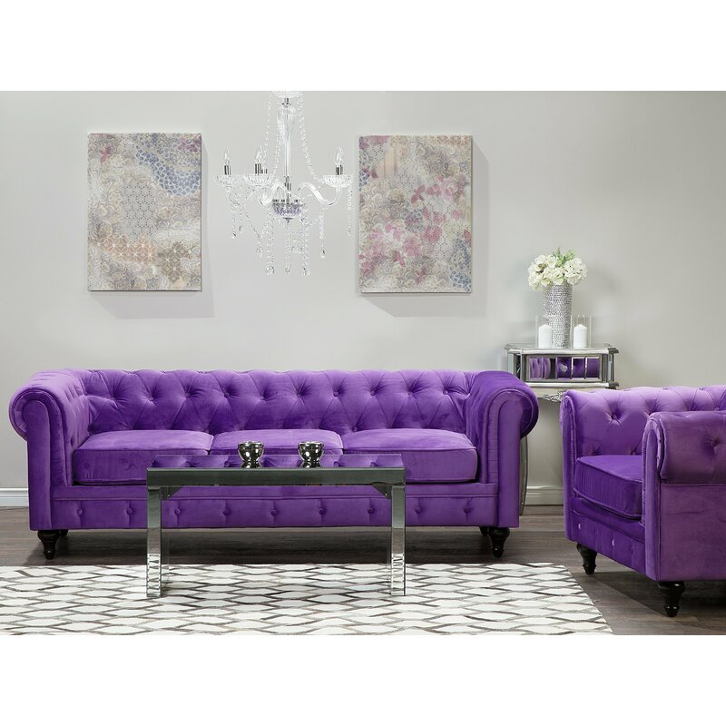 Spears 3 Seater Chesterfield Sofa