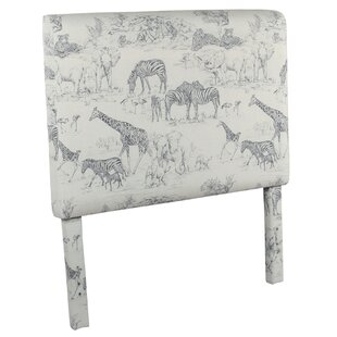 Gretta Jungle Twin Upholstered Panel Headboard by Harriet Bee