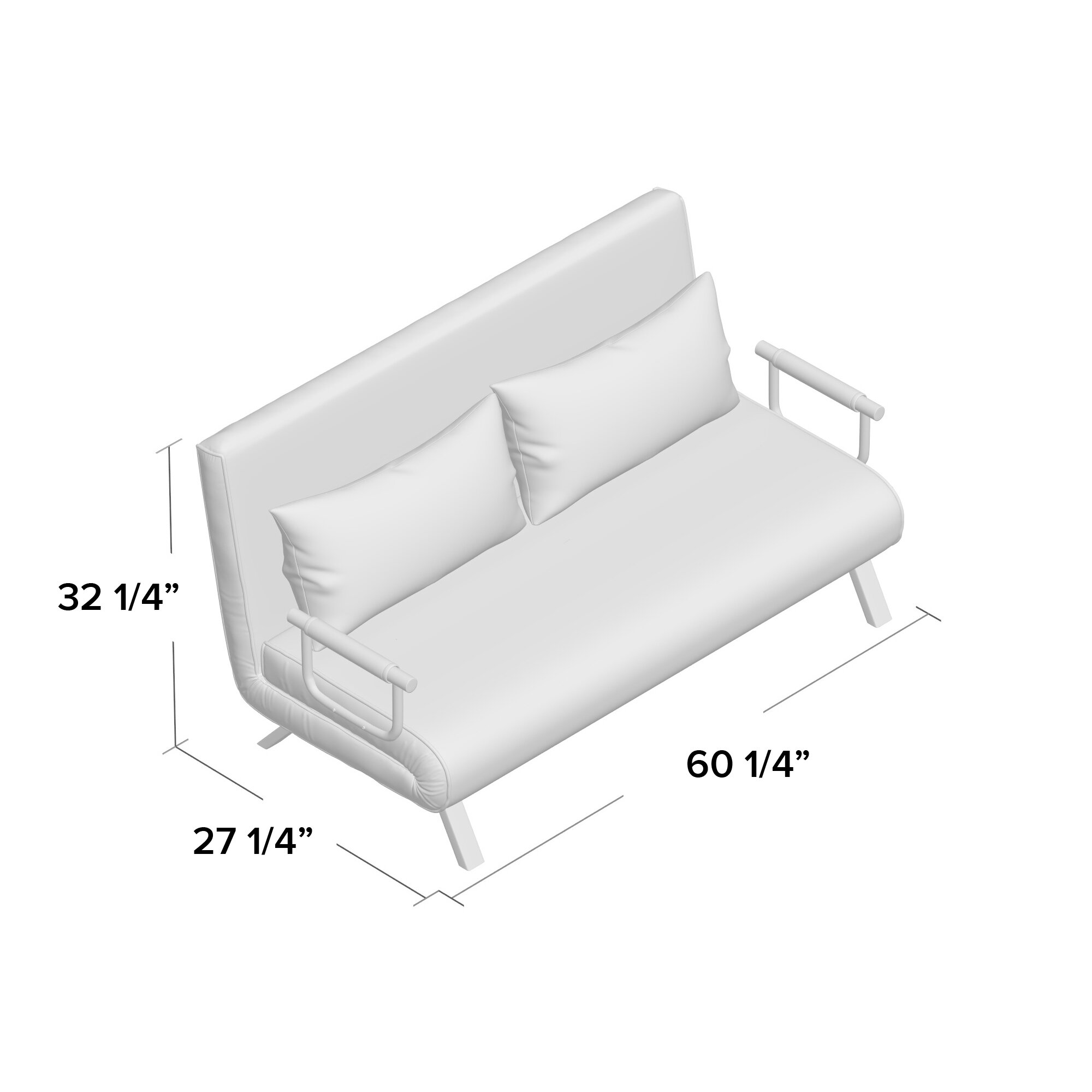 Picture of: Ebern Designs Westbury Park Sofa Bed 60 25 Inches Loveseat Reviews Wayfair