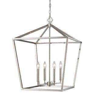 Gracie Oaks Lucy 4-Light Lantern Chandelier