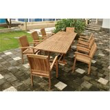 Farnam 9 Piece Teak Dining Set