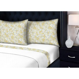 Visconti 3 Piece Floral Sheet Set