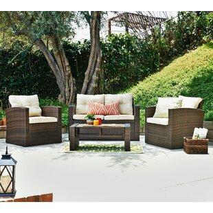 Denn 4 Piece Sofa Set with Cushions