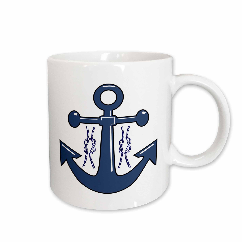 East Urban Home Navy Anchor In Nautical Knots Coffee Mug Wayfair