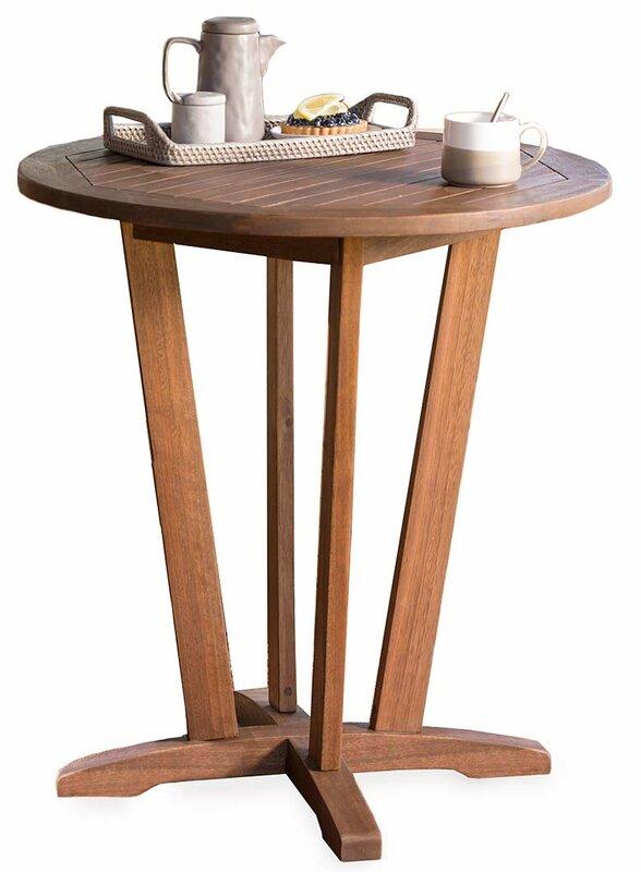 Eucalyptus Outdoor Wooden Bistro Table