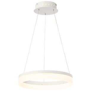 Orren Ellis Clarisa Frosted 1-Light LED Pendant