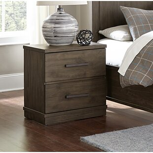 Affordable Price Kirkby 2 Drawer Nightstand by Three Posts