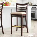 Beechwood Ladder Back Upholstered Seat Bar & Counter Stool by Regal