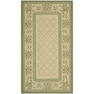 Beasley Natural/Olive Indoor/Outdoor Area Rug