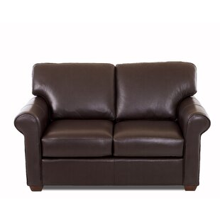 Rachel Leather Loveseat